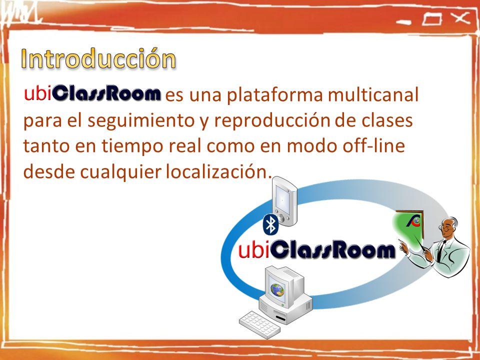 ubiClasRoom es es una plataforma multicanal para el seguimiento y reproducción de clases tanto en tiempo real como en modo off-line desde cualquier lo