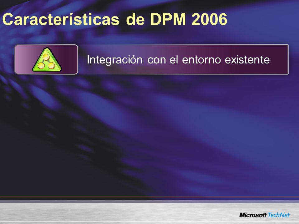Características de DPM 2006 Integración con el entorno existente