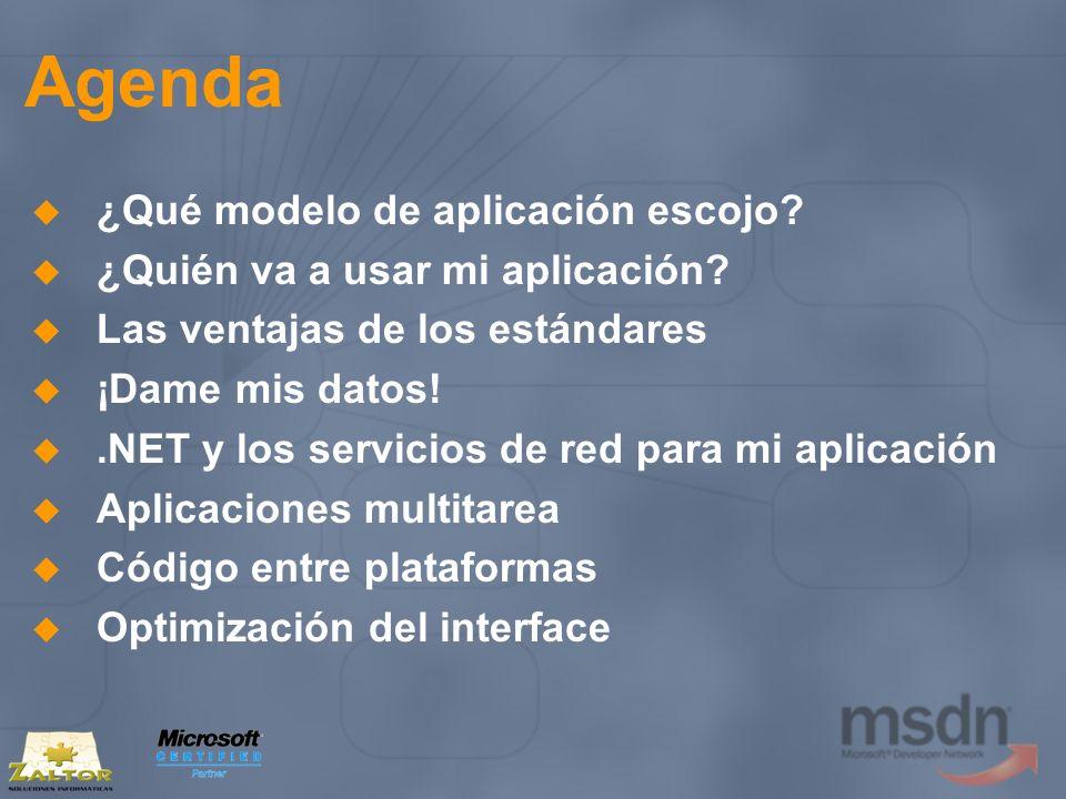Aplicaciones multitarea Servicios Web XML (I) Los métodos con BeginX EndX ejecutan la llamada de forma asíncrona Multithread No bloquean la aplicación Cuando regresan, avisan a la aplicación mediante un delegate (AsyncCallback) Conveniente utilizar llamadas asíncronas siempre que se pueda