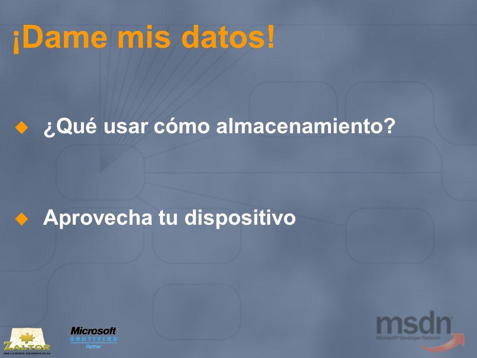 ¡Dame mis datos! ¿Qué usar cómo almacenamiento? Aprovecha tu dispositivo