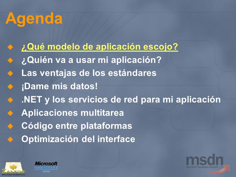 .NET y los servicios de red Servicios Web XML (V) Ejemplo interesante: Cassini Código gratuito Servidor Web Multitarea Carga el entorno de ejecución de ASP.NET en un proceso independiente http://www.asp.net/Projects/Cassini/Download/Def ault.aspx?tabindex=0&tabid=1