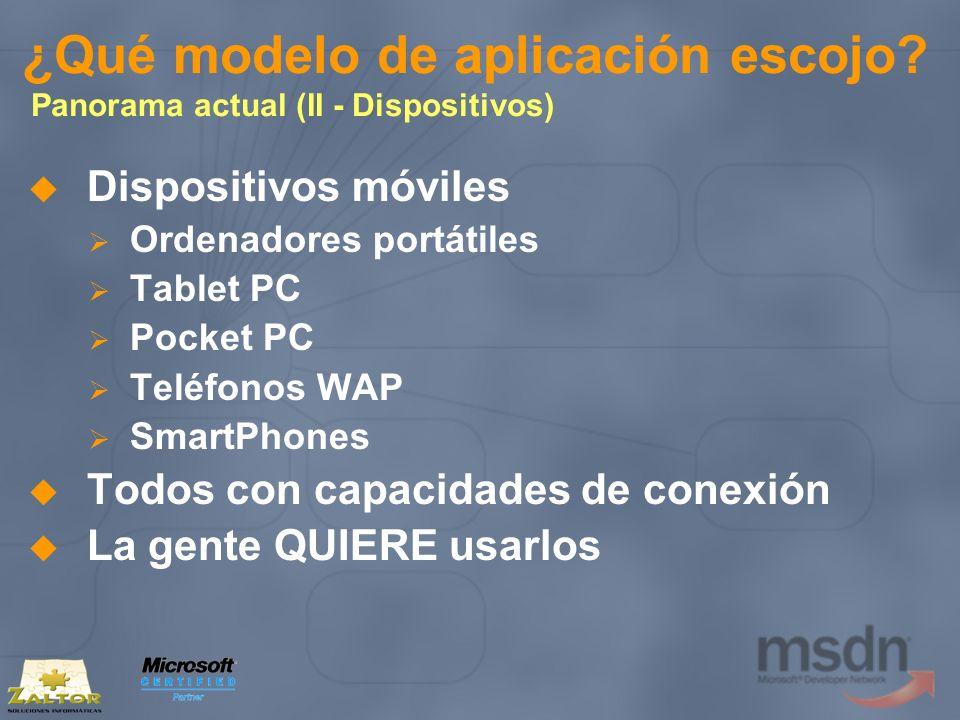 Código entre plataformas Compartir código entre plataformas (III) Entre PC y Pocket PC Clases que sólo hagan referencia a System se pueden copiar compiladas Útiles para la definición de tipos generales No soportado