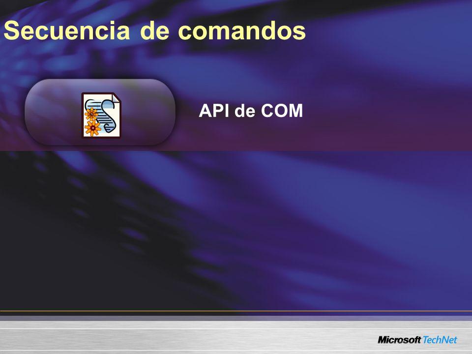 Secuencia de comandos API de COM