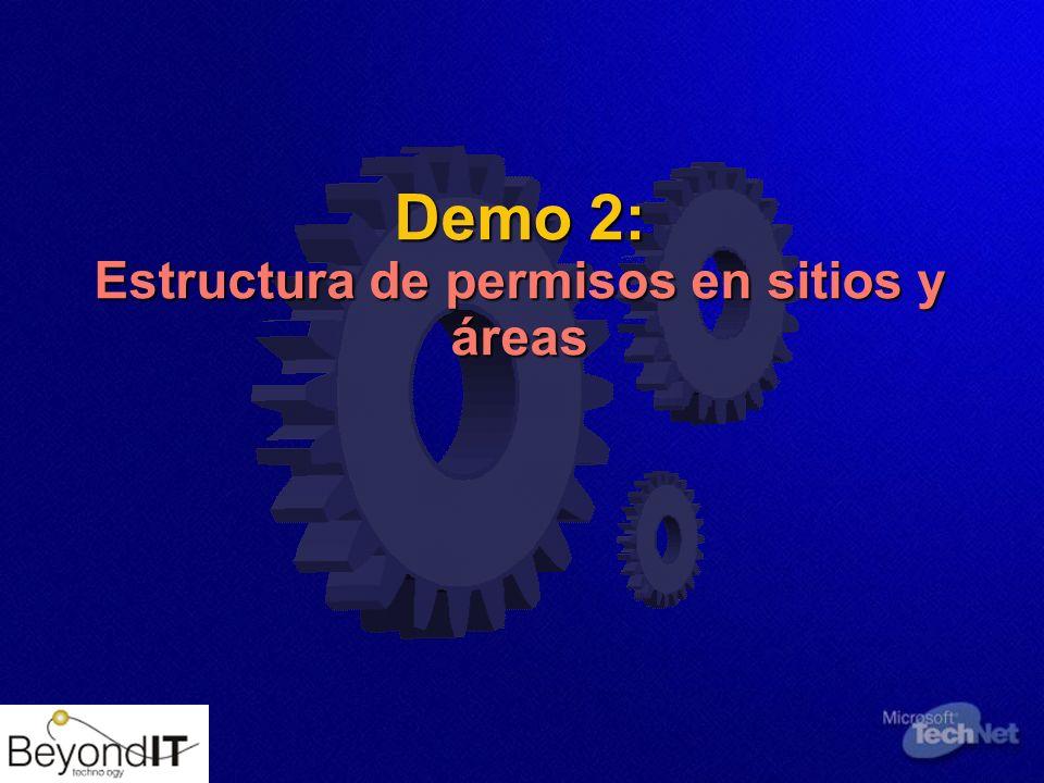 Demo 2: Estructura de permisos en sitios y áreas