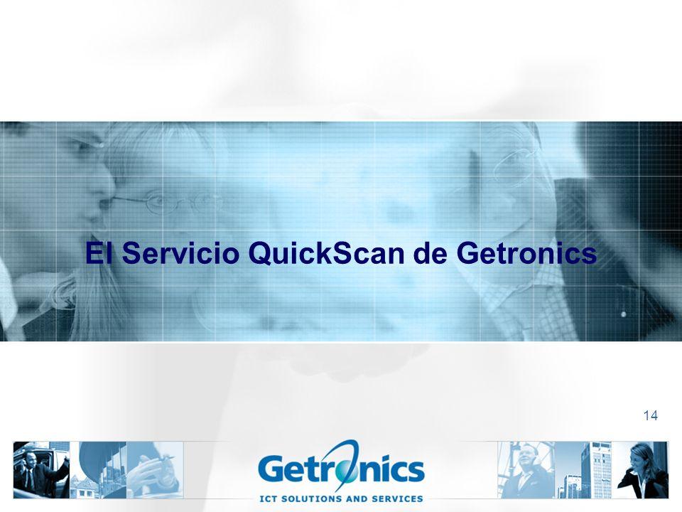 14 El Servicio QuickScan de Getronics