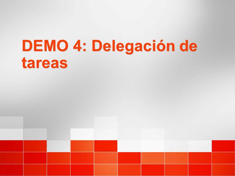 DEMO 4: Delegación de tareas