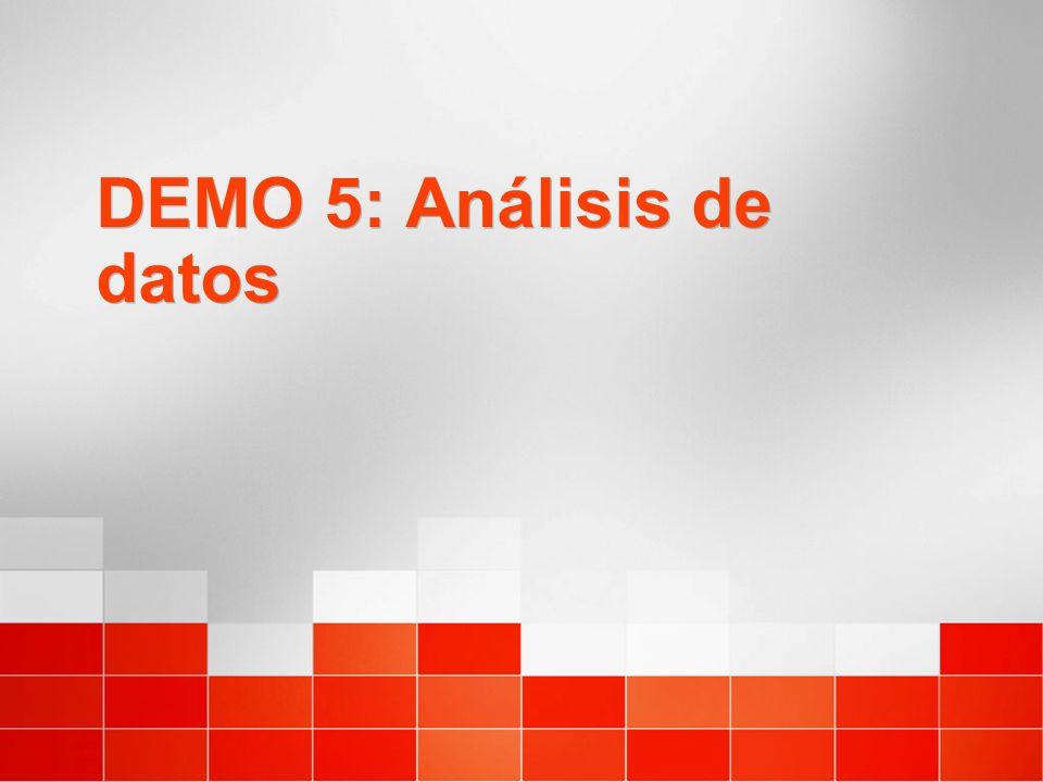 DEMO 5: Análisis de datos