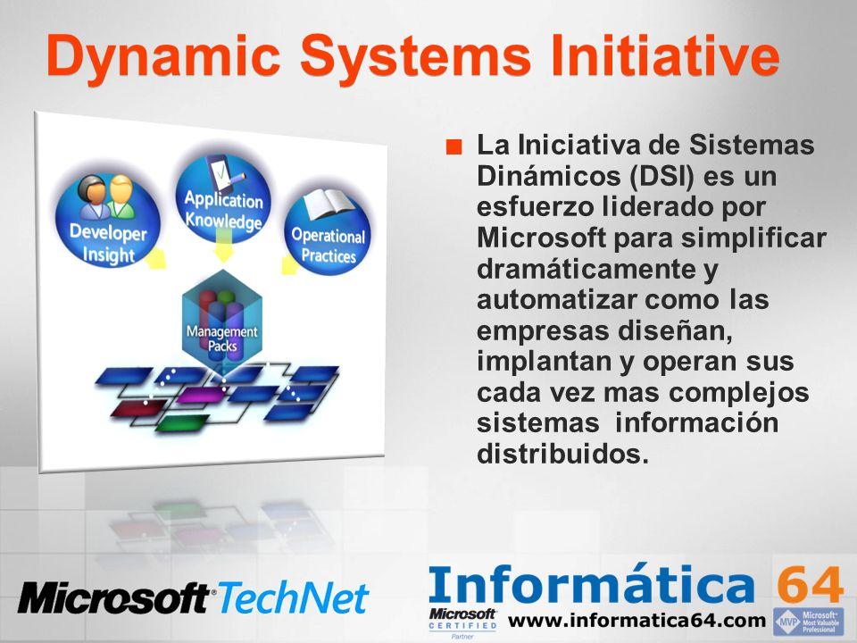 Dynamic Systems Initiative La Iniciativa de Sistemas Dinámicos (DSI) es un esfuerzo liderado por Microsoft para simplificar dramáticamente y automatiz
