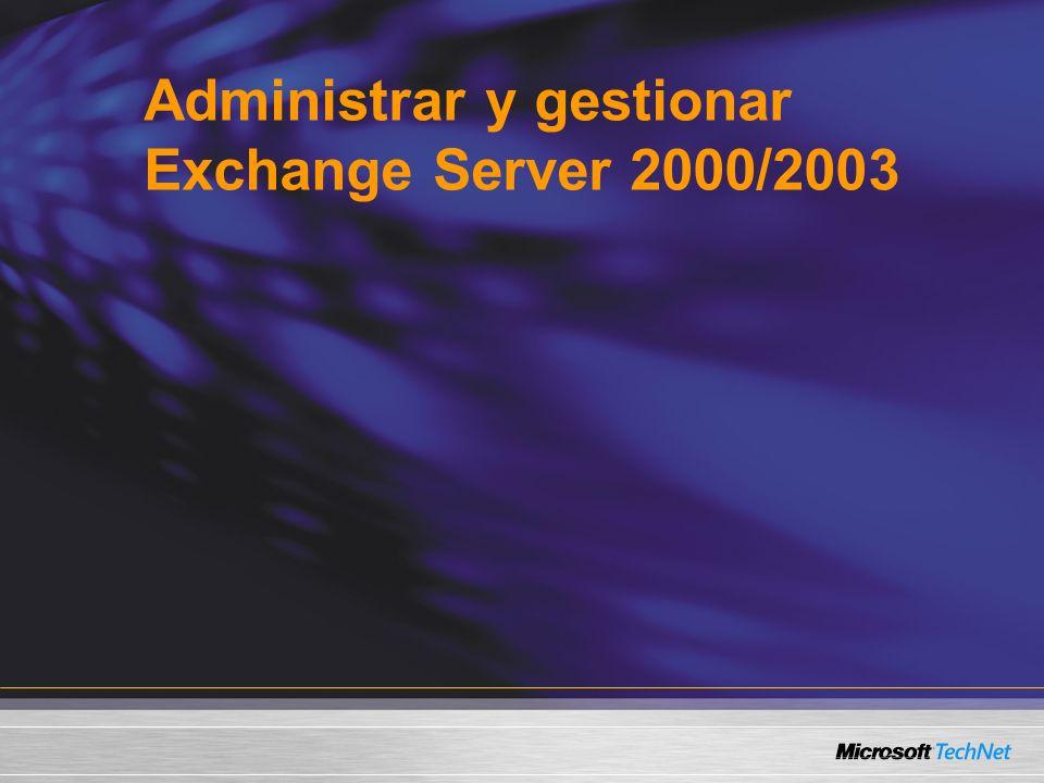 Administrar y gestionar Exchange Server 2000/2003
