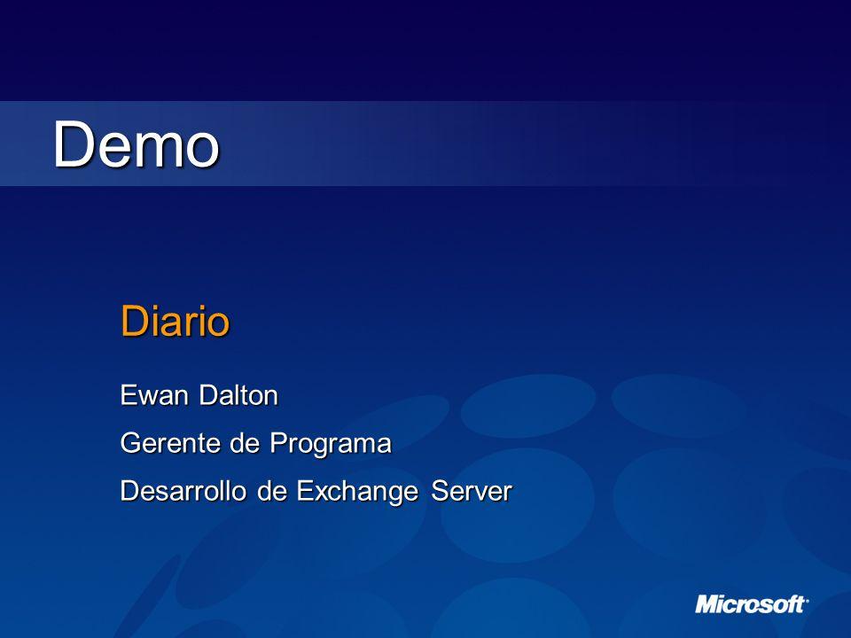 Diario Ewan Dalton Gerente de Programa Desarrollo de Exchange Server Demo