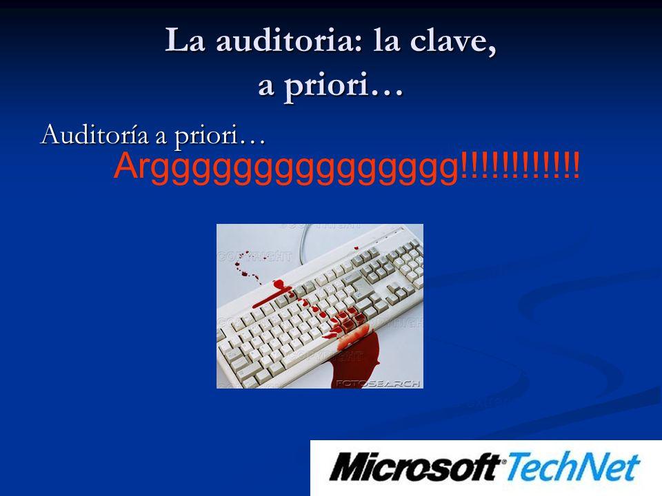 La auditoria: la clave, a priori… Auditoría a priori… ¿Qué analizo.