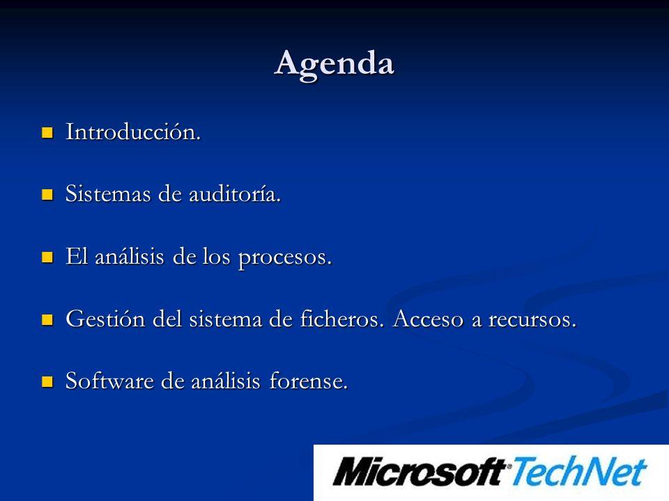 Agenda Introducción. Introducción. Sistemas de auditoría.