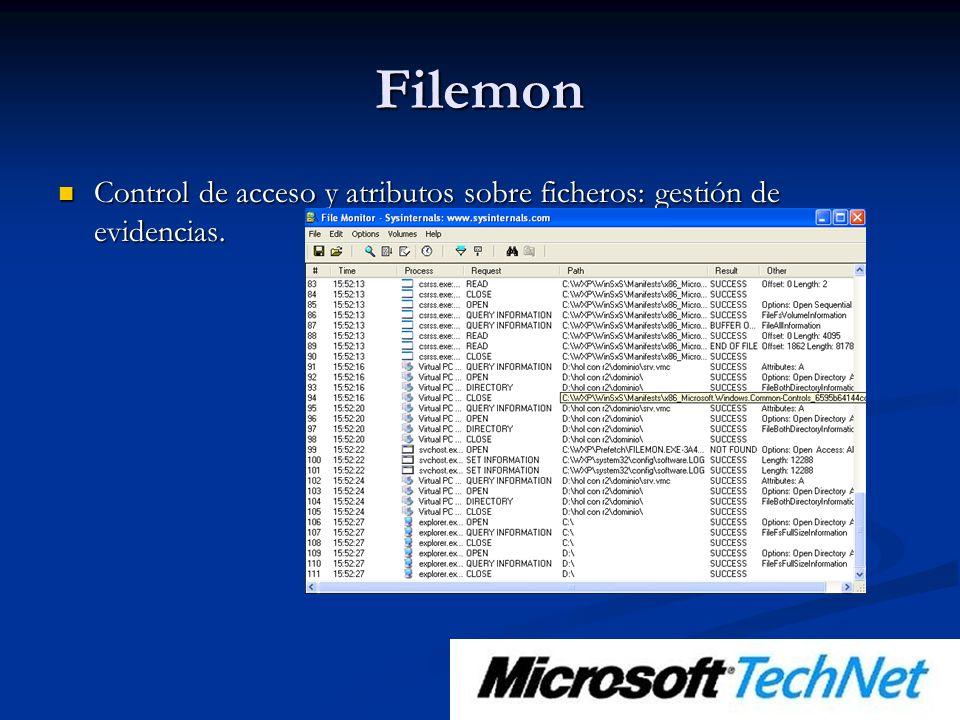 Filemon Control de acceso y atributos sobre ficheros: gestión de evidencias.