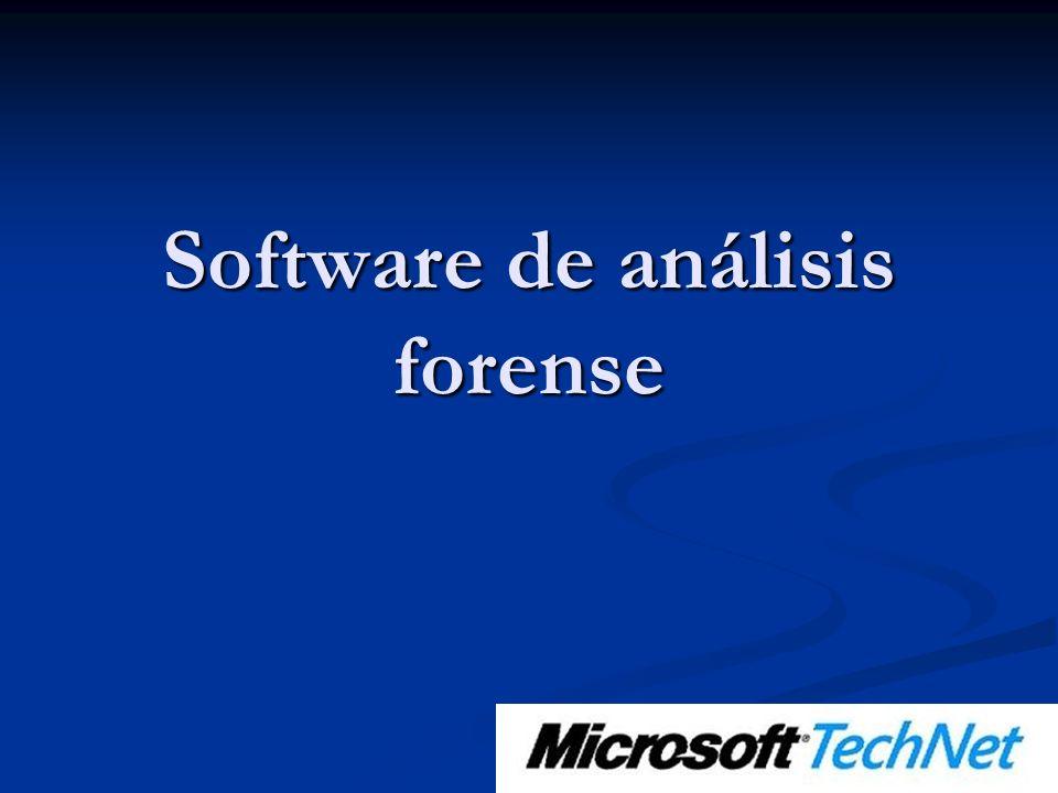 Software de análisis forense