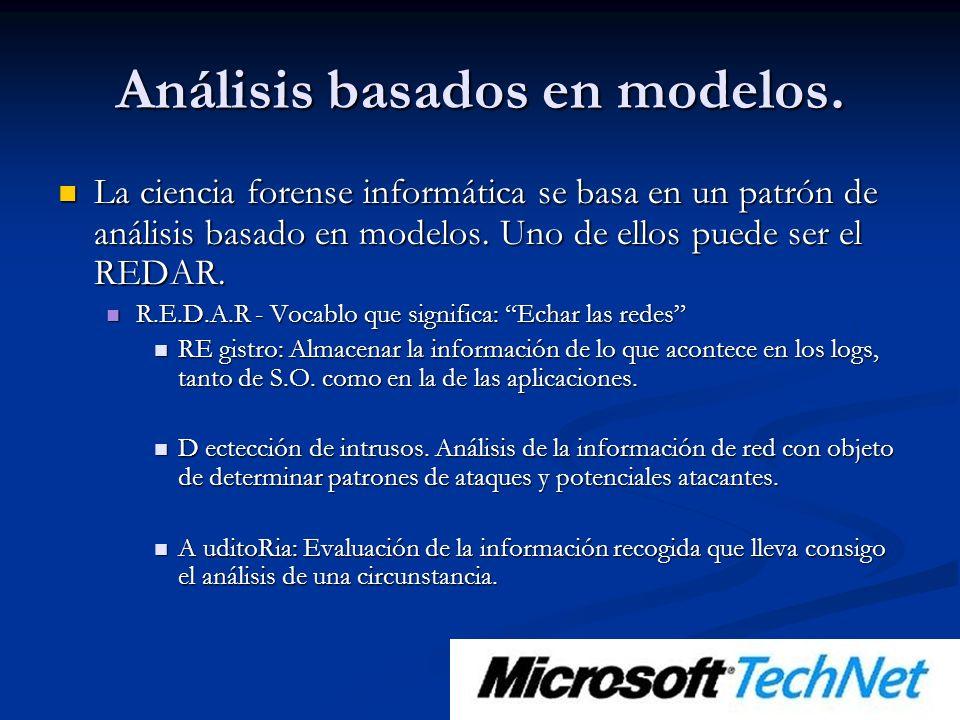 Análisis basados en modelos.