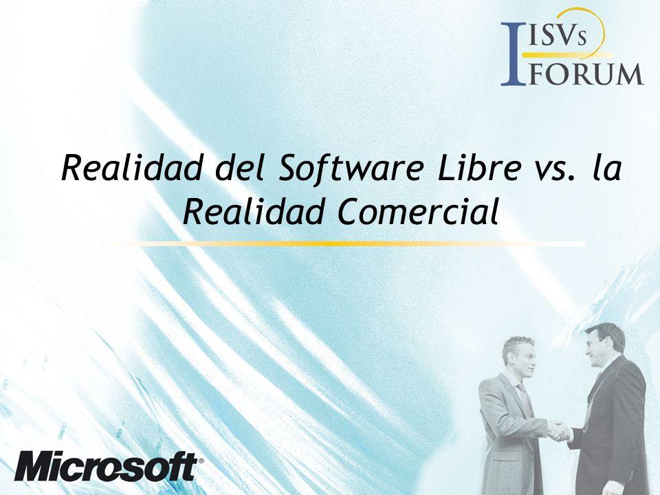Realidad del Software Libre vs. la Realidad Comercial