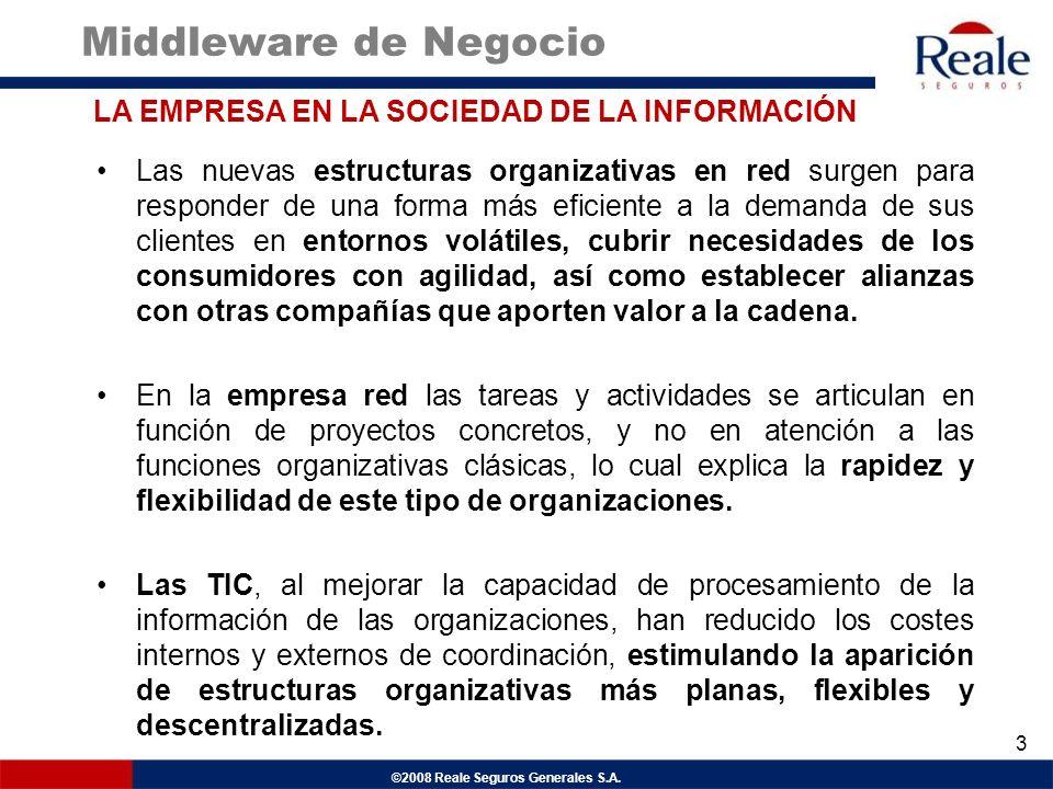 ©2008 Reale Seguros Generales S.A. Las nuevas estructuras organizativas en red surgen para responder de una forma más eficiente a la demanda de sus cl