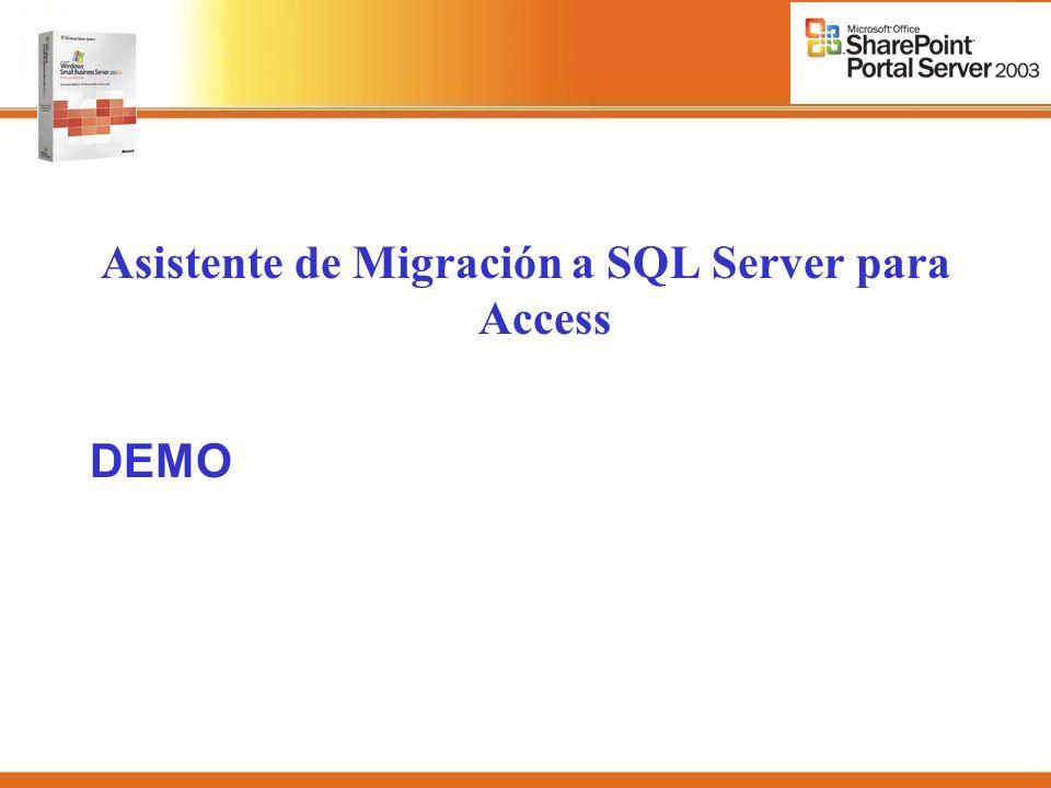 Asistente de Migración a SQL Server para Access DEMO