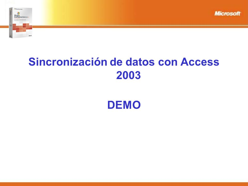 Sincronización de datos con Access 2003 DEMO