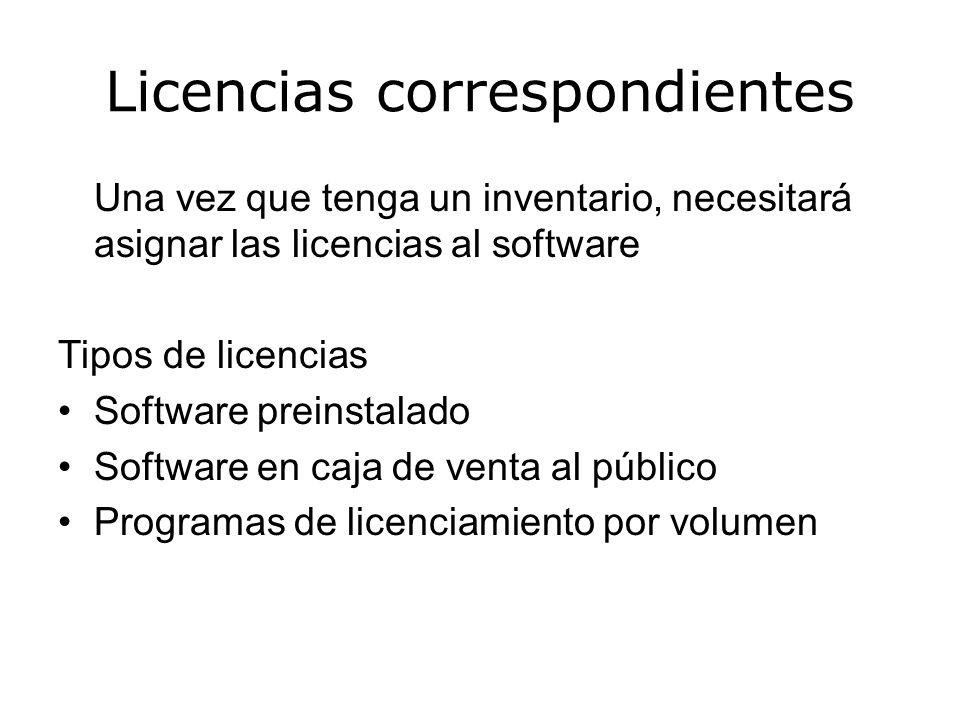 Revisión de políticas y procedimientos Centralice su procedimiento de compras Políticas posteriores de uso de software