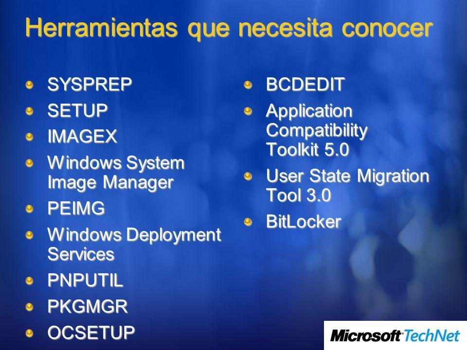 SYSPREPSETUPIMAGEX Windows System Image Manager PEIMG Windows Deployment Services PNPUTILPKGMGROCSETUPBCDEDIT Application Compatibility Toolkit 5.0 Us