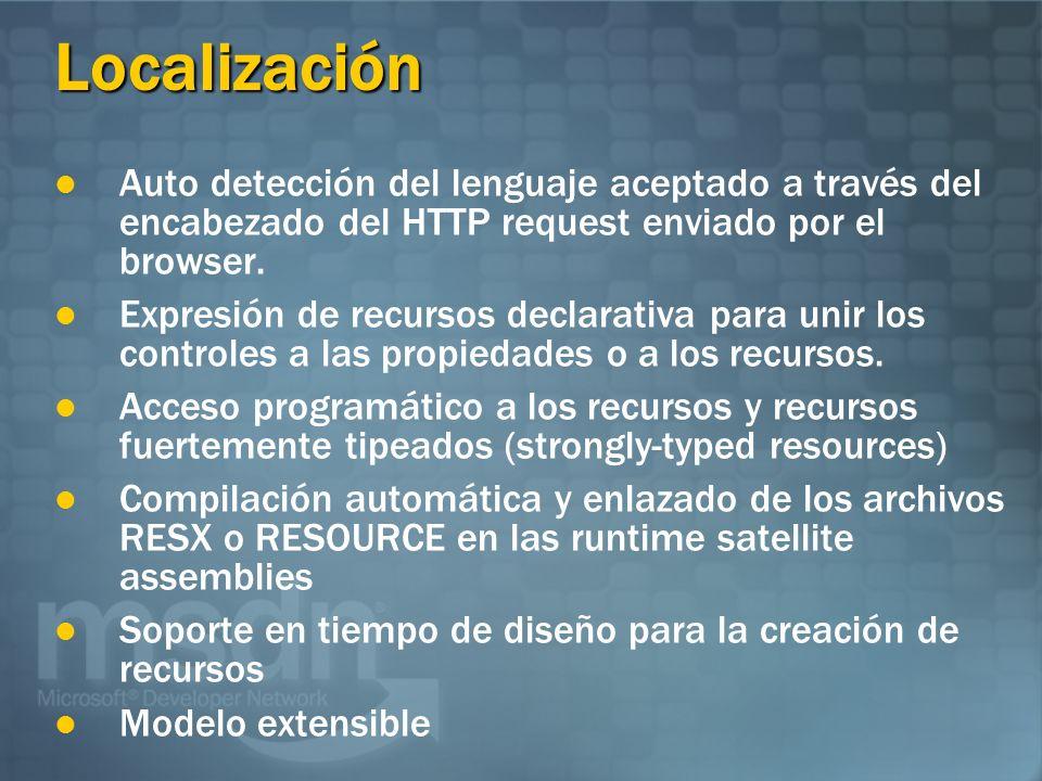 Localización Auto detección del lenguaje aceptado a través del encabezado del HTTP request enviado por el browser.