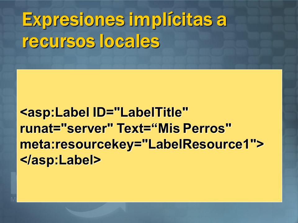 Expresiones implícitas a recursos locales