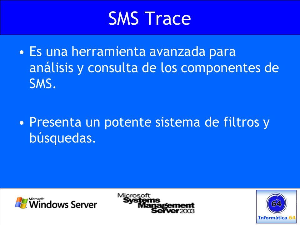 SMS Trace Es una herramienta avanzada para análisis y consulta de los componentes de SMS. Presenta un potente sistema de filtros y búsquedas.
