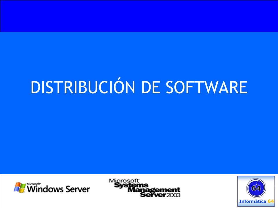 DISTRIBUCIÓN DE SOFTWARE
