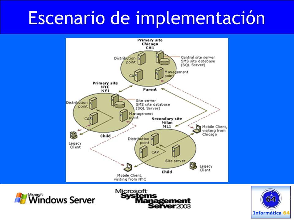 Software Metering Conocer el uso de las Aplicaciones –Quién, cuándo, dónde… –Acuerdos de Licencia –Aplicaciones No Autorizadas Generación de informes –Aplicaciones instaladas vs.