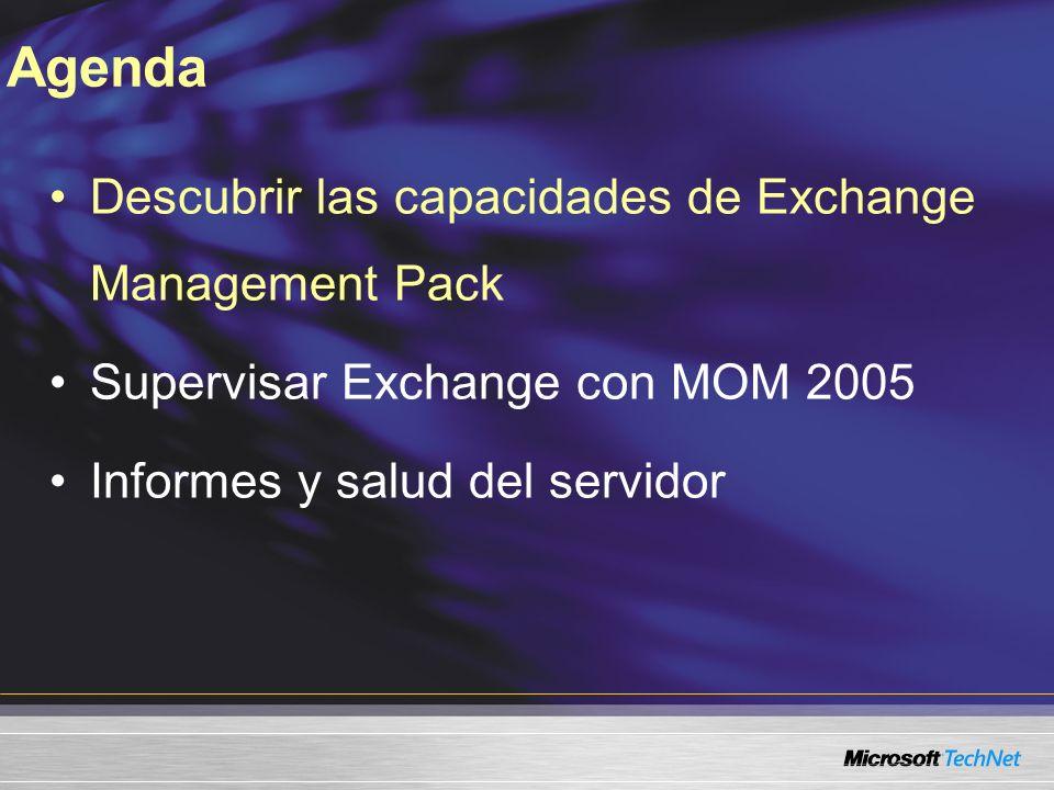 Filtrar y ver datos de eventos MOM con Exchange MP