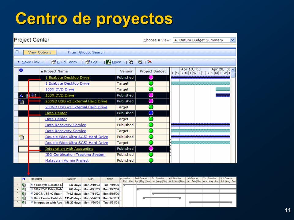 11 Centro de proyectos