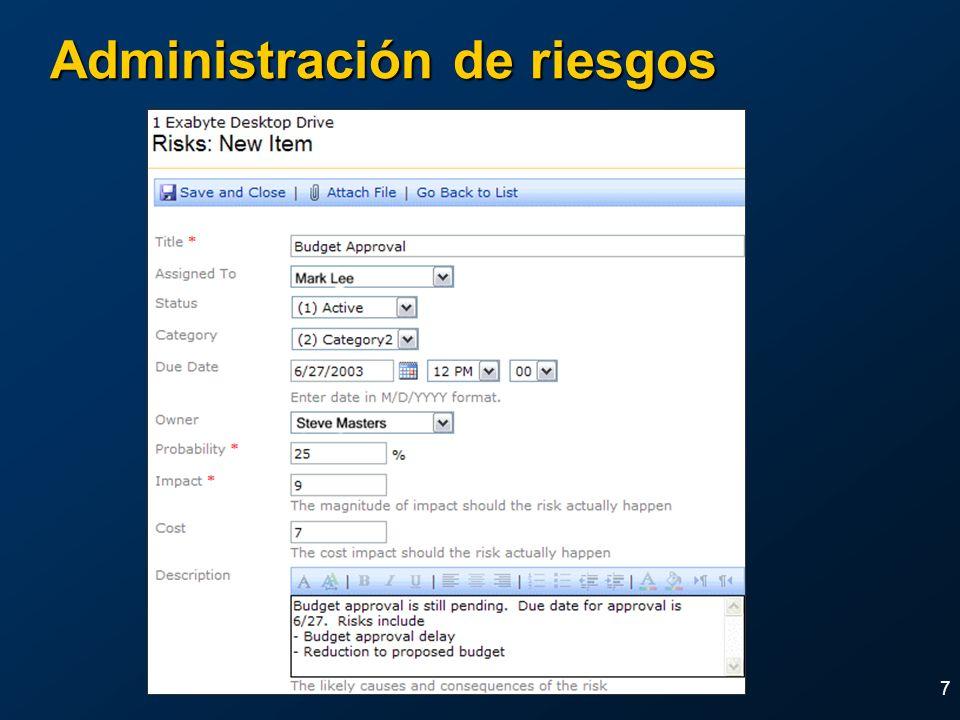 7 Administración de riesgos