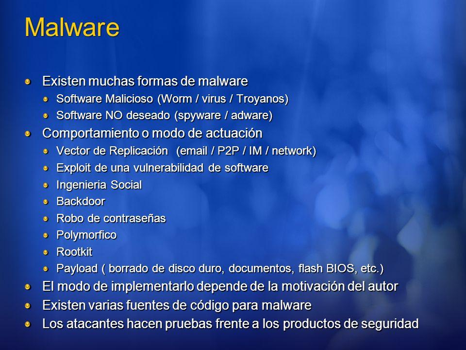 Historia de Microsoft 1992: Fundación de GeCAD Junio 2003: Microsoft adquiere los derechos de PI de GeCAD Enero 2004: Herramientas de limpieza para ayudar con los ataques de virus Deciembre 2004 : Adquisición de la compañía de software Giant Enero 2005: Lanzamiento del Malicious Software Removal Tool Enero 2005: Lanzamiento de Windows Antispyware (Beta 1) Febrero 2006: Lanzamiento de Windows Defender (Beta 2)