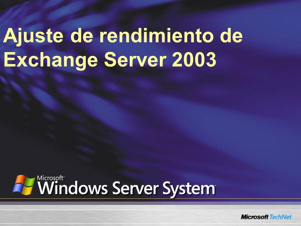 Ajuste de rendimiento de Exchange Server 2003