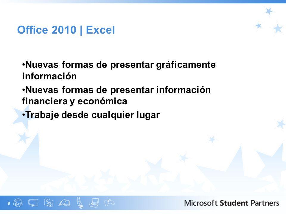 9 Office 2010 | PowerPoint Difusión de diapositivas te permite compartir tu presentación rápidamente y con cualquier persona.