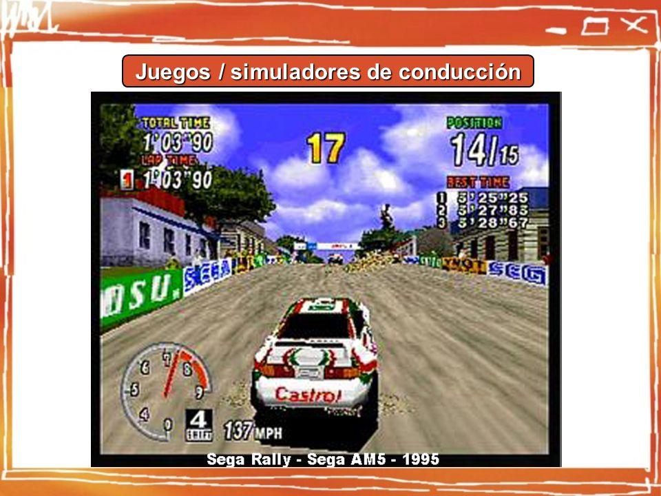 Juegos / simuladores de conducción