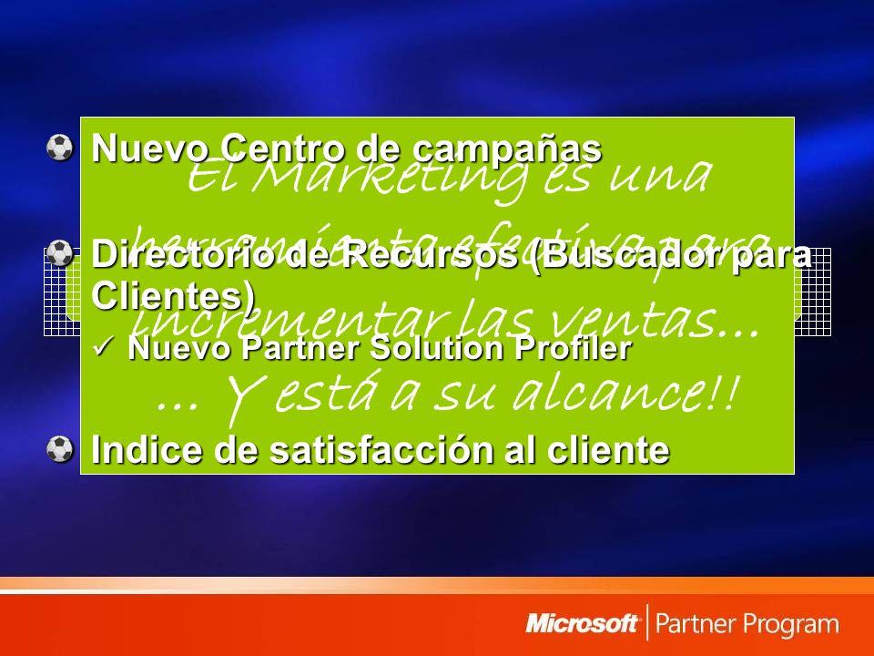 Herramientas de Marketing El Marketing es una herramienta efectiva para incrementar las ventas… … Y está a su alcance!! Nuevo Centro de campañas Direc