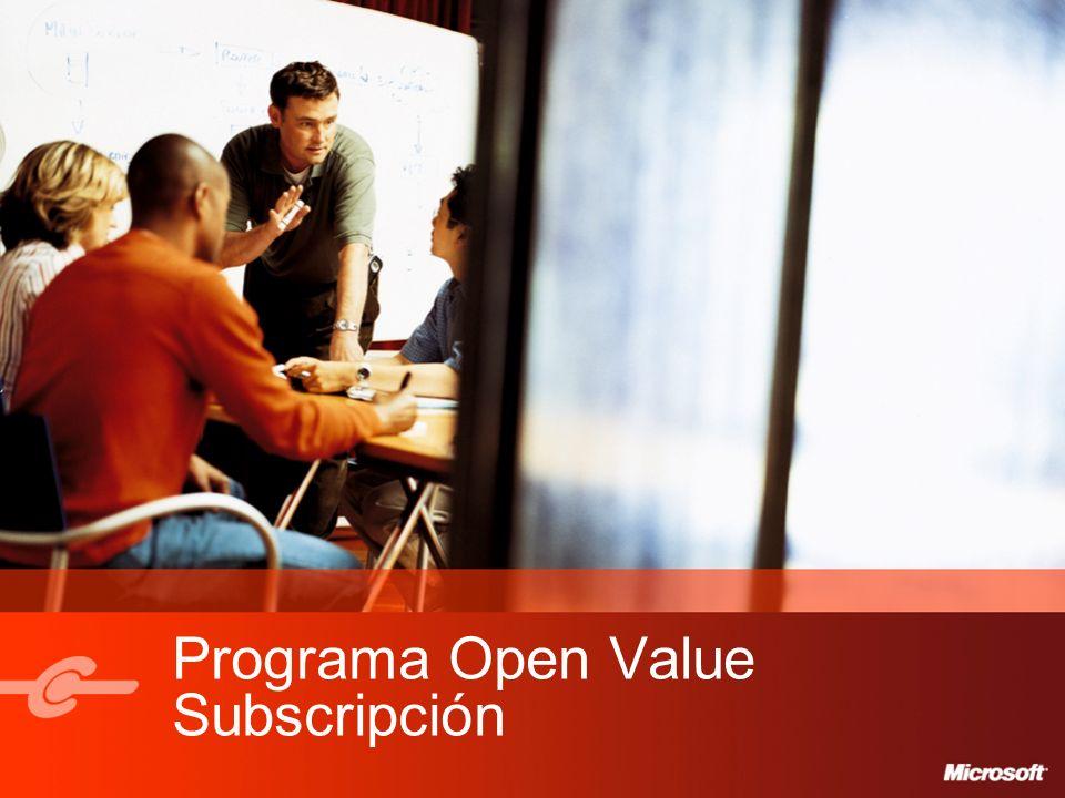 Programa Open Value Subscripción