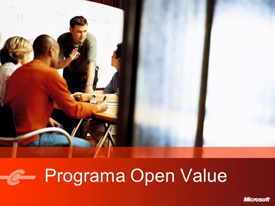 9 Open Value Tipo de LicenciaPerpetua ClienteCliente principal + Filiales opcionales Duración del acuerdo3 años, renovable por otros 3 años PedidosPedido Inicial de 5 o Más Licencias.