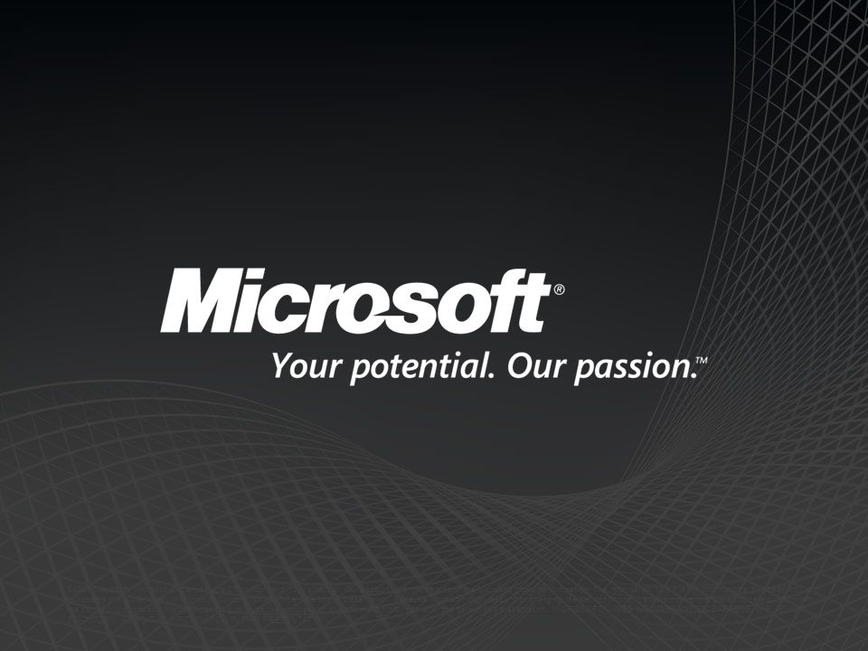 ©2009 Microsoft, Microsoft Dynamics, the Office logo, and Your potential.
