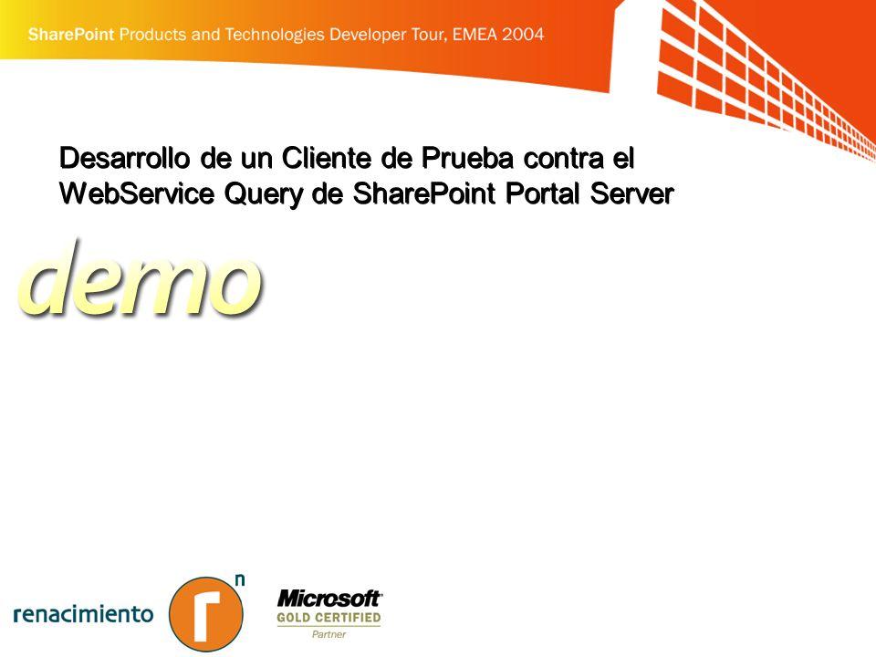 Desarrollo de un Cliente de Prueba contra el WebService Query de SharePoint Portal Server