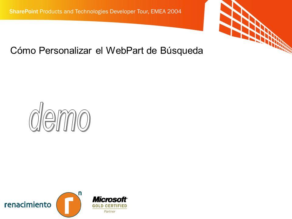Cómo Personalizar el WebPart de Búsqueda