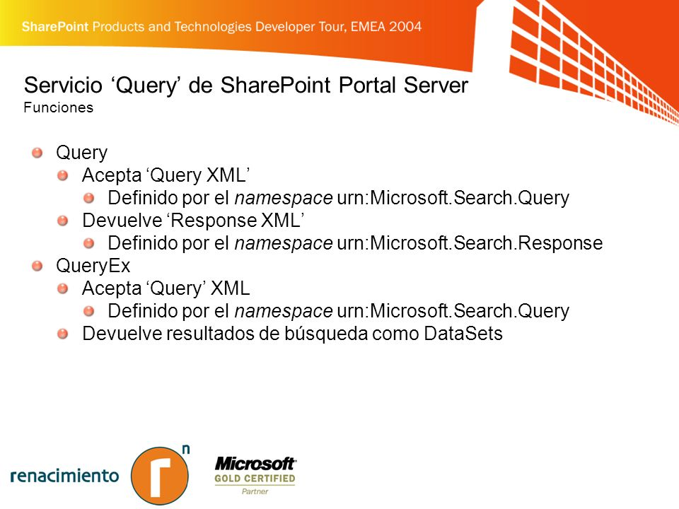 Página de Web-Parts de Búsqueda Página Ghosted C:\Program Files\Common Files\Microsoft Shared\web server extensions\60\TEMPLATE\{LCID}\SPS Controles en el fichero de Code Behind RightBodySectionSearchBox SearchResultManagement EditModeSettingsLink Y mas …