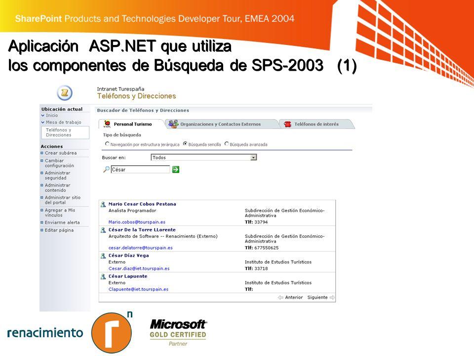 Aplicación ASP.NET que utiliza los componentes de Búsqueda de SPS-2003 (1)