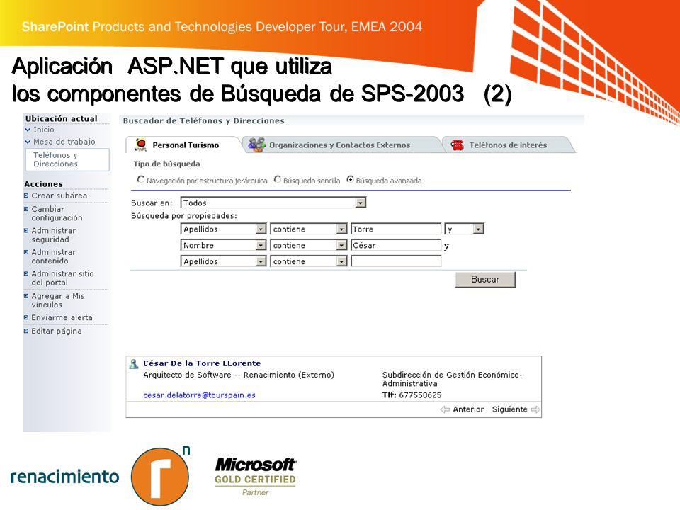 Aplicación ASP.NET que utiliza los componentes de Búsqueda de SPS-2003 (2)