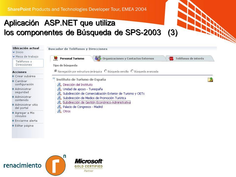 Aplicación ASP.NET que utiliza los componentes de Búsqueda de SPS-2003 (3)