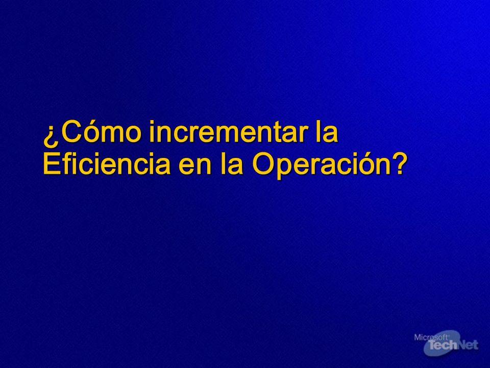 ¿Cómo incrementar la Eficiencia en la Operación?