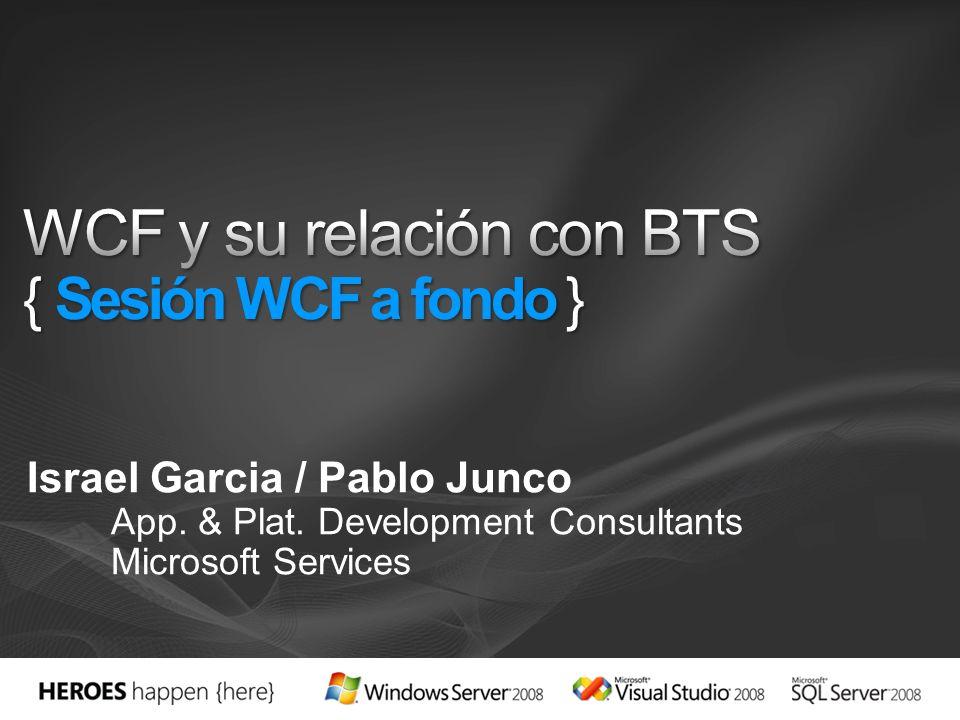 Objetivo 2 horas de sesión MUY técnica para entender los escenarios de WCF (con ejemplos), así como su relación con BizTalk Server 2006 R2 Audiencia Profesionales de IT Preventas técnicos Quien quiera… ¿Cuando.