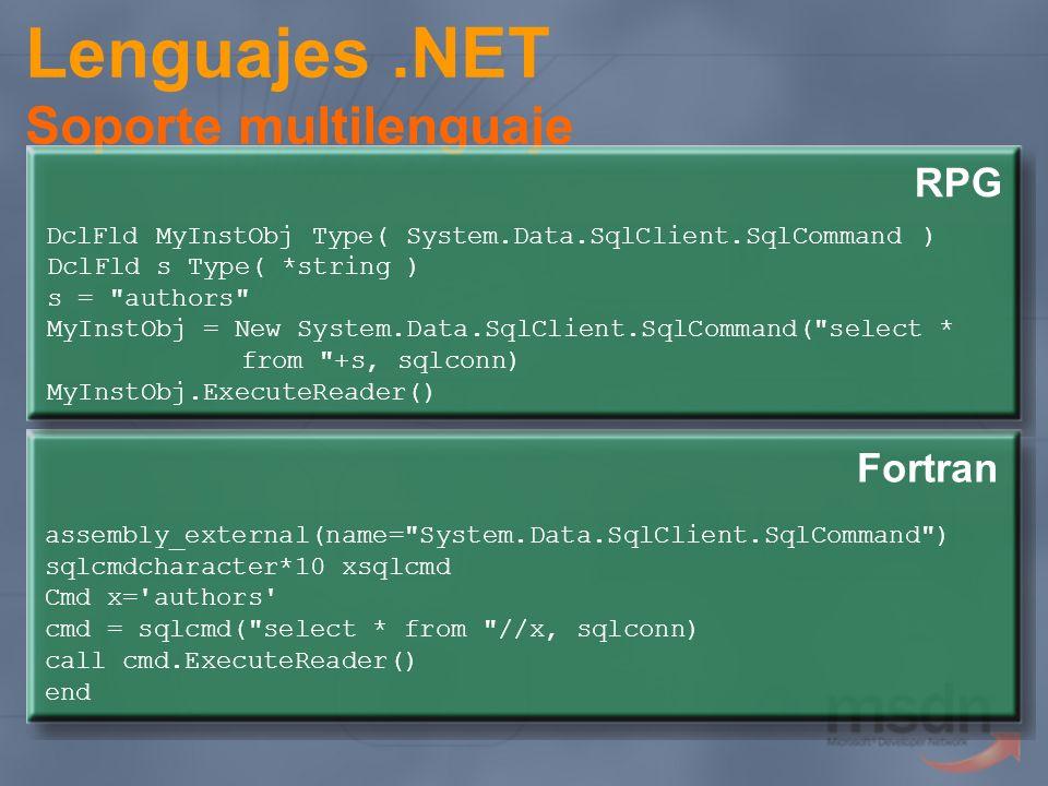 Lenguajes.NET Soporte multilenguaje assembly_external(name=